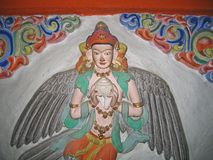 Ladakh, India, medieval wall reliefs Stock Photo