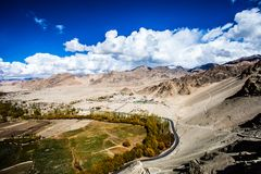 Ladakh in Indian Himalayas, Himachal Pradesh, India Royalty Free Stock Images