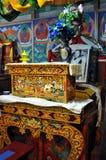 Ladakh - lamor som ber platsen inom templet Royaltyfria Foton
