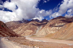 Ladakh landscape. View on ladakh landscape during the way from Manali to Leh Royalty Free Stock Photography