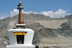 Ladakh landscape with stupa Royalty Free Stock Image