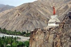 Ladakh landscape with stupa Stock Photos