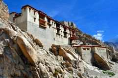 Ladakh (Little Tibet) - Shey slott i Leh Royaltyfri Foto