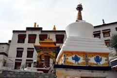 Ladakh (poco Tíbet) - monasterio de Spituk en Leh imagen de archivo libre de regalías