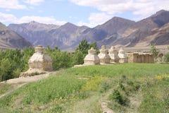 Ladakh. Stupas close to Hemis monastery. Ladakh stock image