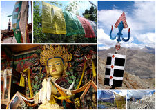 Ladakh travel photo collage Royalty Free Stock Photography