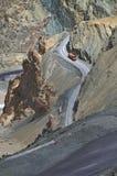Ladakh-vägar Arkivfoto