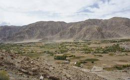 Ladakh village barren landscape Stock Images