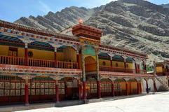Ladakh (Weinig Tibet) - klooster Hemis Stock Fotografie