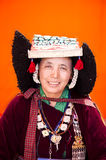 Ladakh Woman. In traditional costume Royalty Free Stock Photo