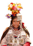 Ladakh Woman. In traditional costume Stock Photography