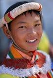 Ladakhfestival 2013, jonge mens met traditionele kleding Royalty-vrije Stock Afbeelding