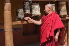 Ladakhi修士在修道院里 免版税库存图片