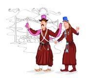 Ladakhi couple Stock Image