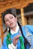 Ladakhi dancer girl royalty free stock photo