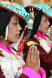Ladakhi dancer girlS Stock Photo