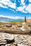 Ladakhtso Moriri het Dorpsklooster V van Meerkorzok Royalty-vrije Stock Foto