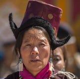 Ladakhvrouw Stock Afbeelding