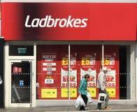 Ladbrokes商店在伦敦 库存图片