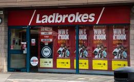 Ladbrokes bookies front royalty free stock image
