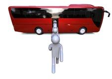 Ladda bussen vektor illustrationer