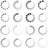 Ladda, framsteg eller fungera som buffert snurrsymboler stock illustrationer