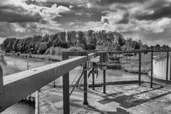 Ladda och lasta av platsen på Ketelhaven royaltyfri bild