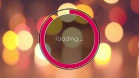 Ladda stången på de oskarpa ljusen för bakgrund stock video
