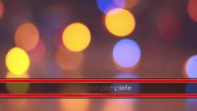 Ladda stången på de oskarpa ljusen för bakgrund arkivfilmer