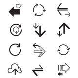 Ladda upp, nedladda, förnya symbolen för data för dataöverföringen Royaltyfri Fotografi