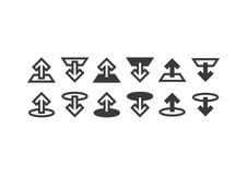Ladda upp/nedladdningsymboler Royaltyfri Bild
