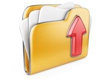 Ladda upp symbolen för mappen 3d. Arkivbild