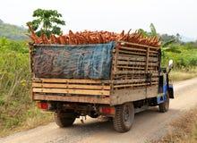 laddad lastbil Fotografering för Bildbyråer