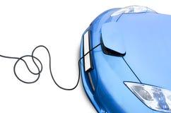 laddande elkraft för bil Arkivbild