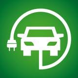 laddande elkraft för bil stock illustrationer