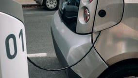 Laddande kabel från en bil royaltyfri foto