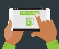Laddande mobil app för grönt bränsle Royaltyfri Fotografi