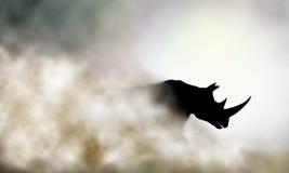 Laddande noshörning stock illustrationer