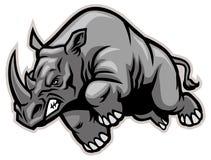 laddande noshörning Arkivbild