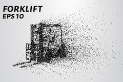 Laddare av partiklarna Lastladdaren består av små cirklar också vektor för coreldrawillustration Arkivbild