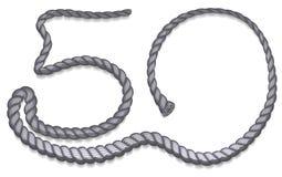 Laddat upp grått rep för nummer 50 Arkivbilder