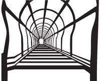 Ladde tunnel. Vector up black and white corridor tunnel backgrounds perspective ladder vector illustration