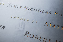 Ladder 11 and Fallen, 9/11 Memorial Stock Photography