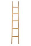 Ladder. Wooden ladder isolated on white Stock Images