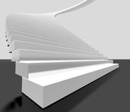 Ladder. 3d image of white ladder Stock Image