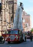LADDER 17 EMERGENCY RESPONSE Stock Images