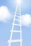 Ladder. Moving up the ladder to the sky Stock Photo