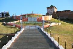 Ladder. Chkalovskaya ladder. Nizhny Novgorod. Russia Royalty Free Stock Images