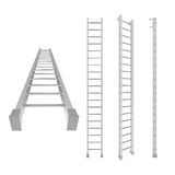 Ladder. Different view of white 3d ladder Royalty Free Stock Photos