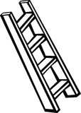 Ladder Royalty-vrije Stock Afbeeldingen